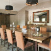 Private dining room at 59 Almshouse Restaurant by Glenna Stone Interior Design