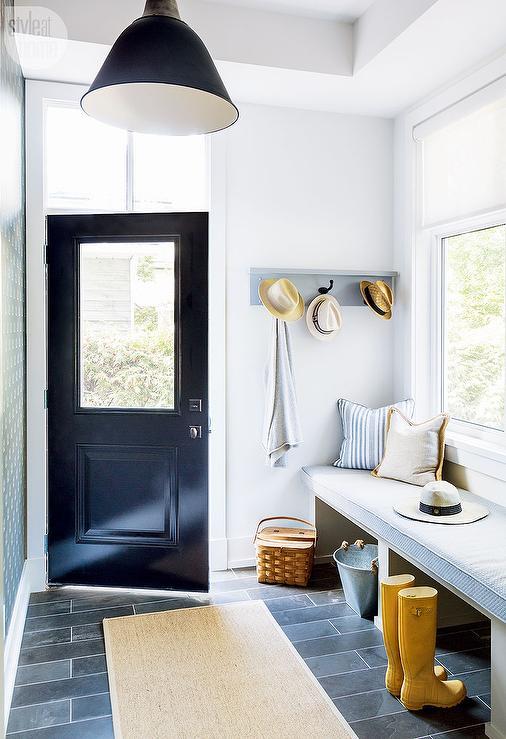 Philadelphia interior design mudroom floor glenna stone via Style at ...