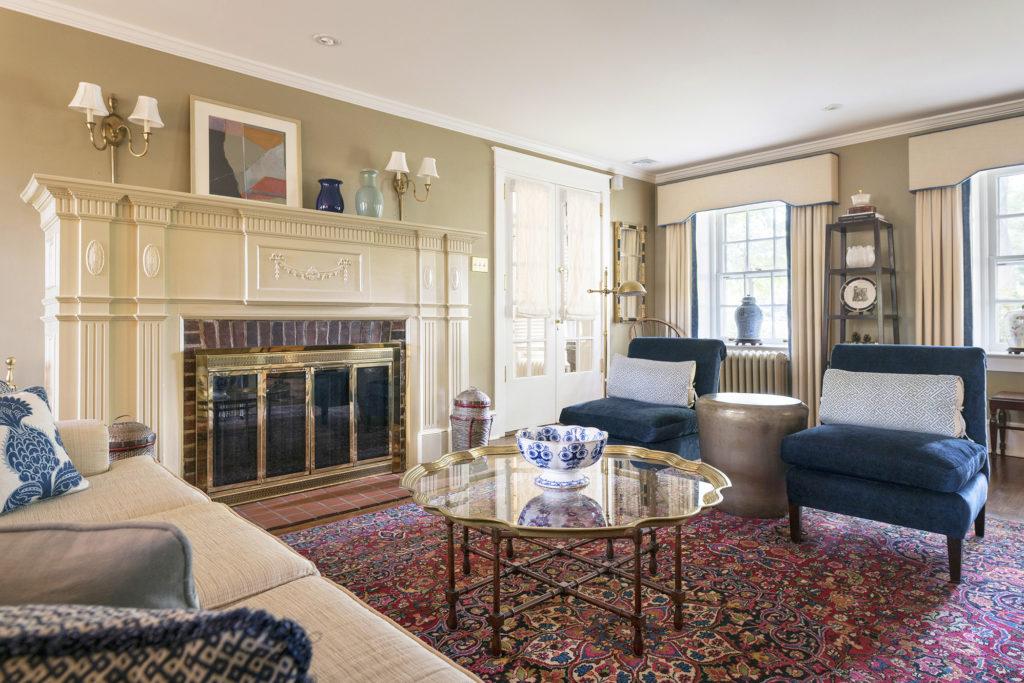 Philadelphia interior designer living room by Glenna Stone Interior Design