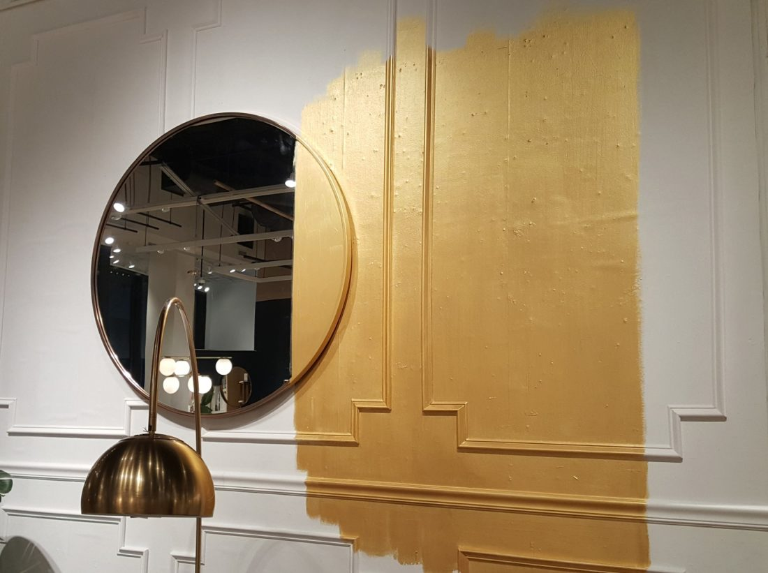Best Philadelphia interior designer Glenna Stone West Elm gold paint