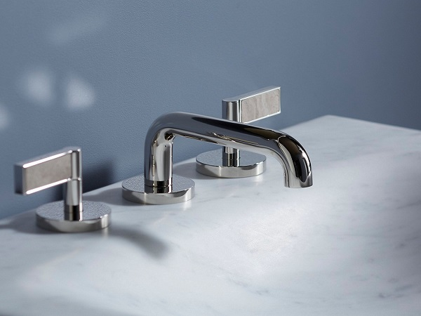 Mixed material faucets - Philadelphia interior designer Glenna Stone