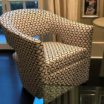 Best Philadelphia interior designer Glenna Stone swivel chairs custom design