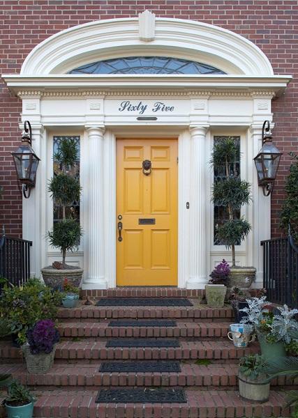 Best Philadelphia Interior Designer Glenna Stone Yellow Front Door