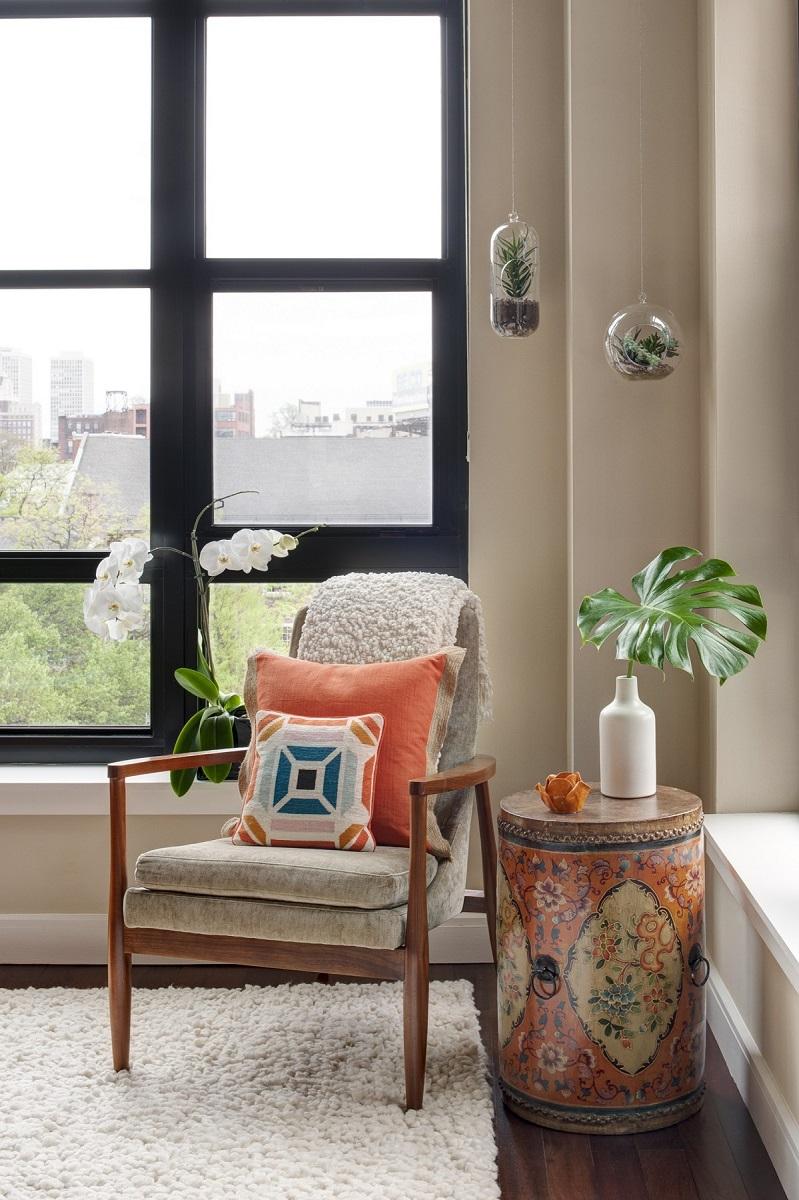 Asian Inspired Living Room travel inspired design - glenna stone interior design