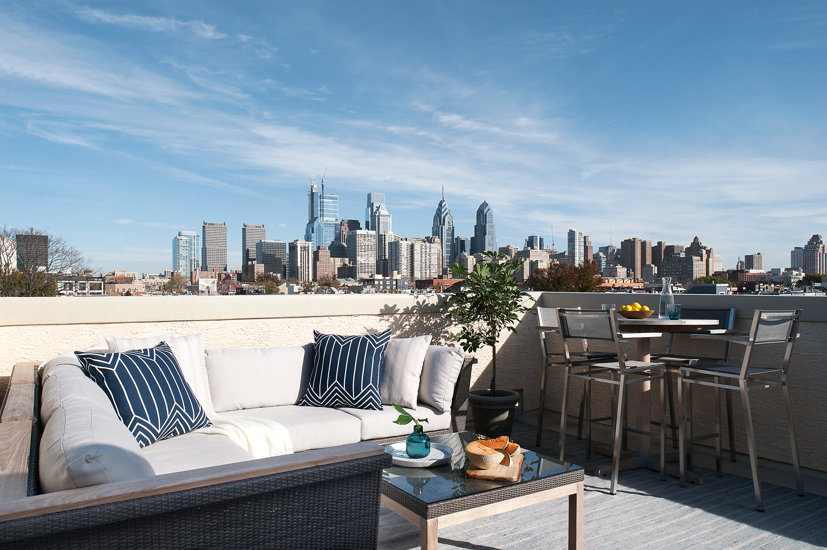 Best Philadelphia Interior Designer Glenna Stone Center City Philadelphia Roof Deck Glenna