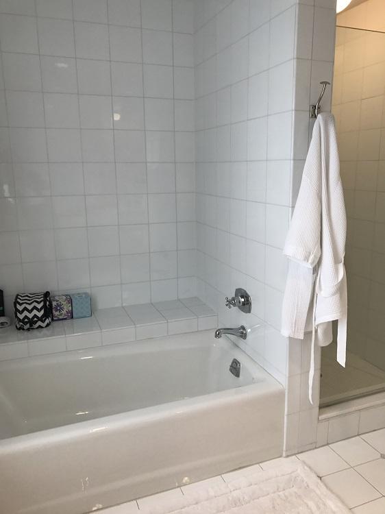 Best Philadelphia Interior Designer Glenna Stone Wynnewood Bedroom Renovation En Suite Bathroom Tub And Shower Before Glenna Stone Interior Design